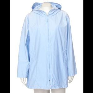 Eileen Fisher Light Blue Windbreaker Raincoat - S